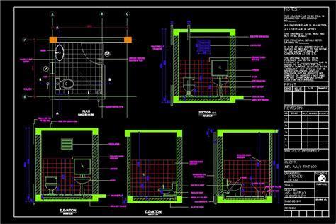 Toilet Details DWG Plan for AutoCAD ? Designs CAD