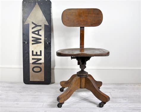 antique wooden swivel desk chair vintage wood office swivel chair desk chair office decor