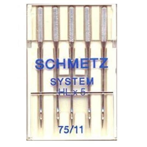 sewing machine needle sizes schmetz hlx5 needles size 75 11 sewing machine needle spares sewing parts and accessories