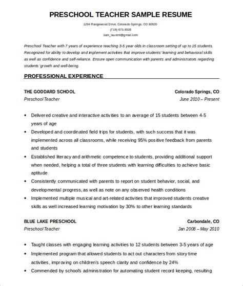 teacher resume templates    premium
