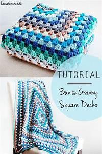 Granny Squares Muster : tutorial bunte granny square decke blankets granny ~ A.2002-acura-tl-radio.info Haus und Dekorationen