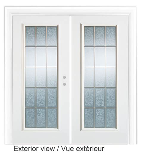 stanley doors 72 inch decorative glass lefthand garden