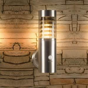 Außenleuchte Mit Bewegungsmelder Edelstahl : led wandleuchte mit bewegungsmelder bewegungssensor au enleuchte wandlampe edelstahl ip44 ~ Watch28wear.com Haus und Dekorationen