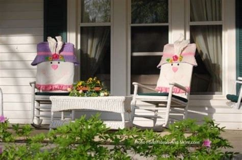 front porch easter rocking chair covers pictures