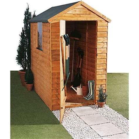 overlap shed 6 x 4ft at homebase be inspired and make