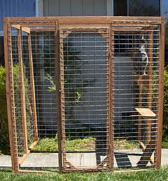 cat outdoor enclosure outdoor cat fence 171 wood doors