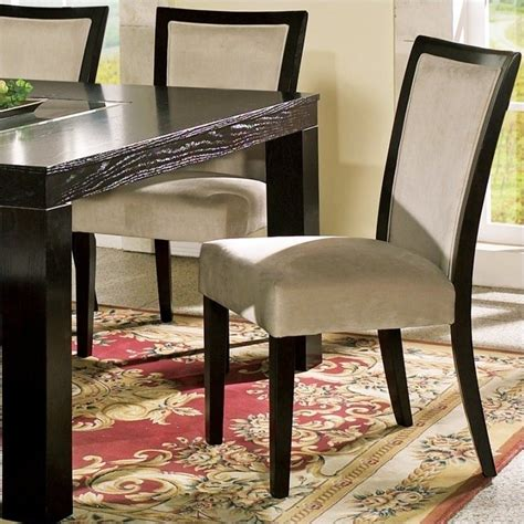 steve silver company movado fabric parsons dining chair merlot