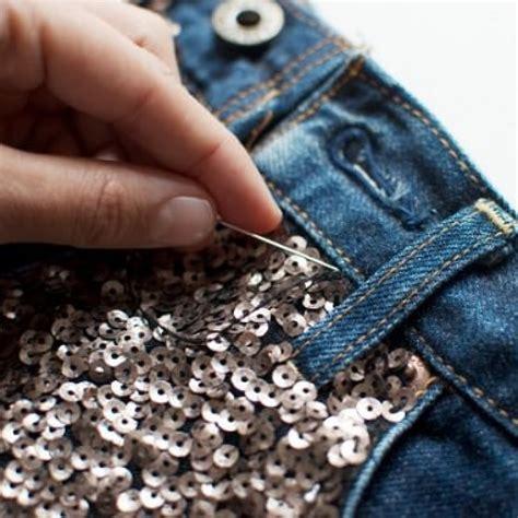 customizar short lentejuelas coser ideas diy