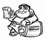 Beer Keg Cartoon Friar Drawing Monk Mascot Sketch Getdrawings Illustration Logos sketch template
