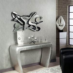 Sculpture Murale Design : decoration murale design en metal noir ~ Teatrodelosmanantiales.com Idées de Décoration