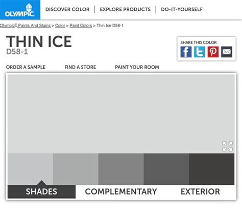 thin ice olympic paint color pinterest ice