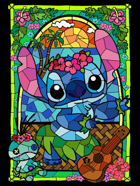 stained glass stitch drawing follow   instagram