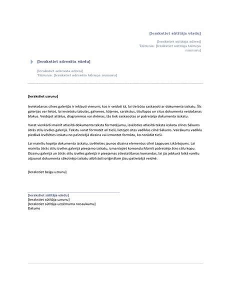 Vēstule (dizains