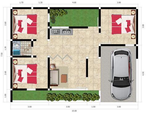 gambar desain  denah rumah minimalis  lantai