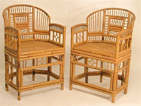 pair  chinese bamboo chairs  stdibs