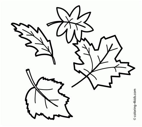 Coloring Leaves by Printable Leaves Coloring Pages Coloring Home
