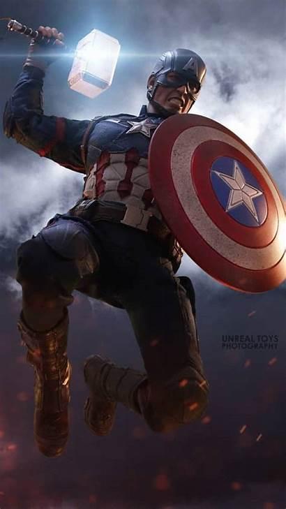 Captain America Thor Hammer Worthy Lift Avengers