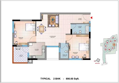 two bedroom cottage house plans 2 bhk house plans home design and style