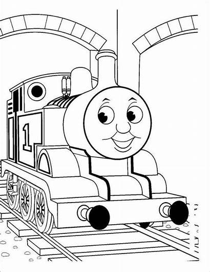 Train Coloring Printable Template Pages Templates Colouring