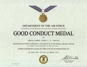 good conduct award certificate popular and various templates With army good conduct medal certificate template