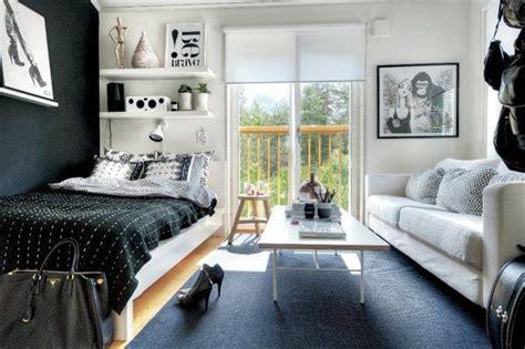 Studenten Einzimmerwohnung Einrichten by Combined Living And Sleeping Area Studio Style Live