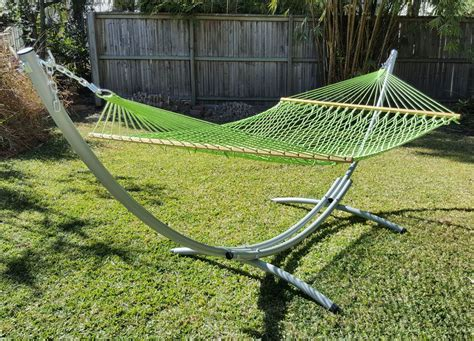 Free Standing Hammock by Xl Free Standing Hammock Green Rope Hammock And Arc Stand