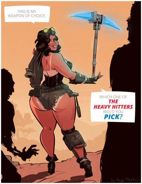 Penny Fortnite Heavy Hitters Cartoon Pinup