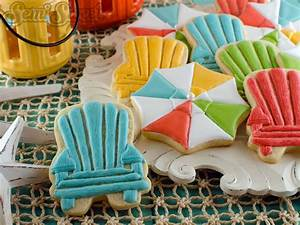 Summer Cookies: Beach Umbrellas and Chairs - Semi Sweet