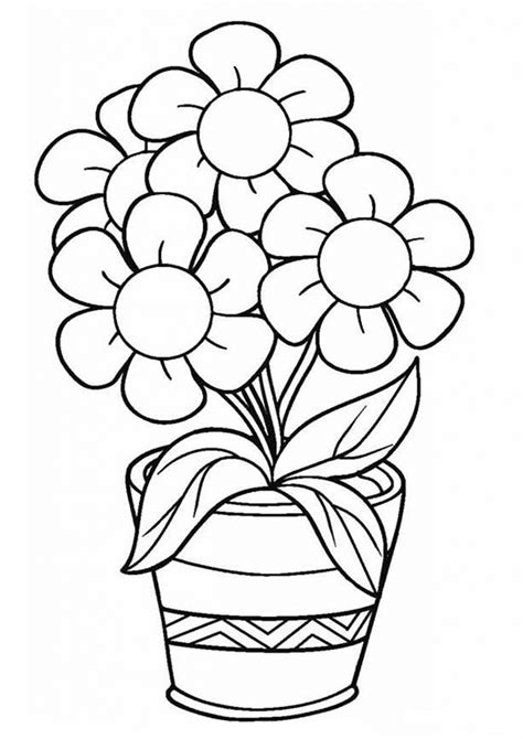 easy  print flower coloring pages tulamama