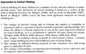 Critical essay definition being a leader essay critical review