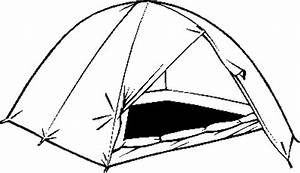 Black And White Clipart Tent - ClipArt Best