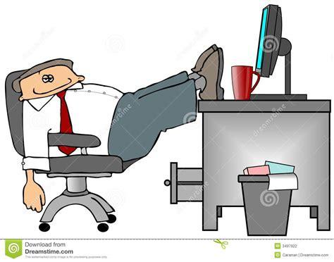 pieds sur le bureau photographie stock image 3497922