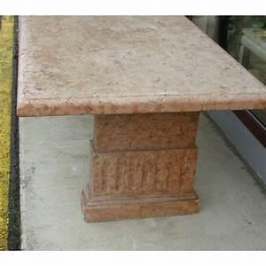 Table Marbre Rectangulaire : table rectangulaire en marbre rose sur moinat sa antiquit s d coration ~ Teatrodelosmanantiales.com Idées de Décoration