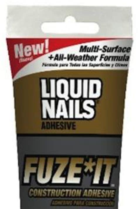 liquid nails fuze  adhesive pro remodeler
