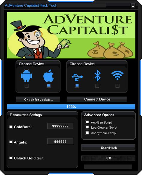 adventure capitalist hack unlimited goldbars  angel