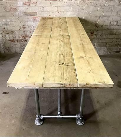 Scaffold Board Industrial Dining Legs Steel Reclaimed