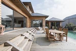 vaucresson maison a ossature bois avec piscine agence With maison bois avec piscine