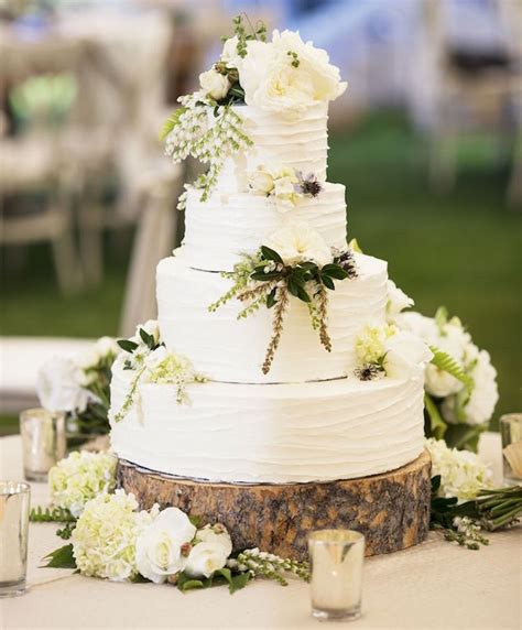 wedding cake displays natural wood cake stands