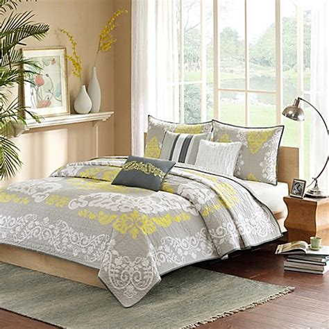 Yellow Coverlets by Park Cameo Coverlet Set In Yellow Bed Bath Beyond