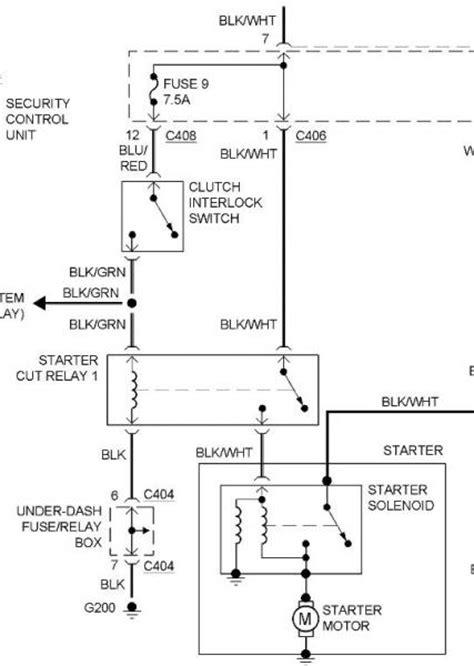 1996 Honda Accord Dash Wiring Schematic by Starter Cut Relay On 92 Ex Mt Honda Tech