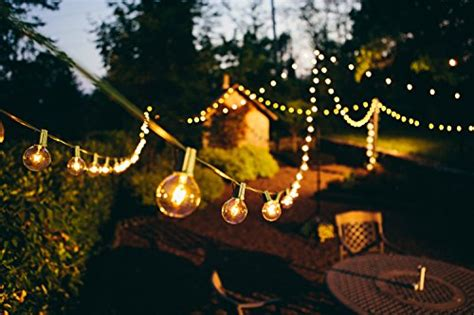 foot  patio globe string lights    clear