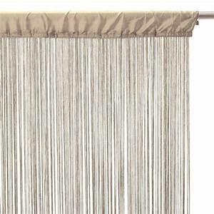 Fil Tringle Rideau : rideau de fil 90 x h200 cm uni lin eminza ~ Premium-room.com Idées de Décoration