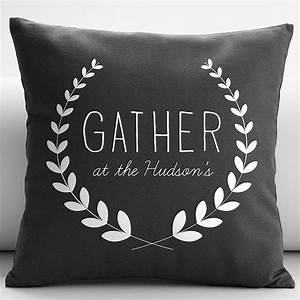 personalized gather throw pillow cover from RedEnvelope
