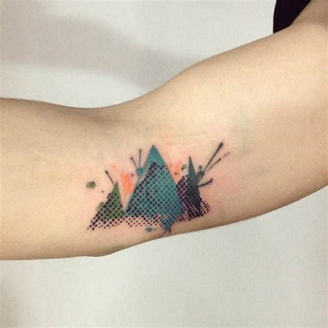 abstract mountains on the right inner arm