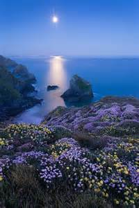 Bedruthan Steps Cornwall England