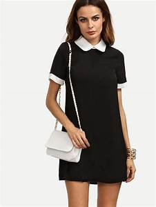 contrast peter pan collar dress sheinsheinside With robe fille col claudine