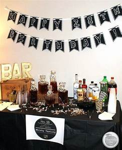 Mens Party Decorations Homemade Birthday Party Decorations