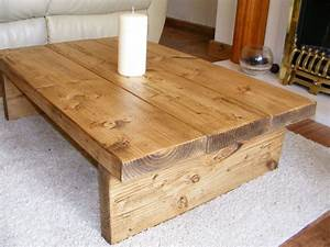 coffee table rustic chunkyhandmadesolid wood solid With solid oak wood coffee tables