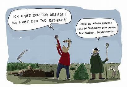 Sensenmann Tod Humor Schwarzer Cartoons Sense Ist