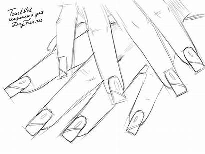 Nails Draw Step Drawing Getdrawings Arcmel